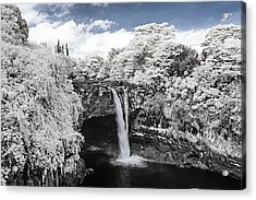 Rainbow Falls In Infrared 2 Acrylic Print