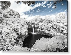 Rainbow Falls In Infrared 3 Acrylic Print