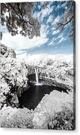 Rainbow Falls In Infrared 4 Acrylic Print