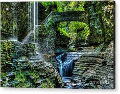 Rainbow Falls Watkins Glen Acrylic Print