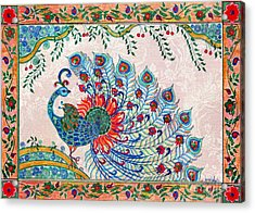 Rainbow Feathers Acrylic Print