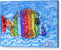 Rainbow Fish Acrylic Print by Kathy Marrs Chandler