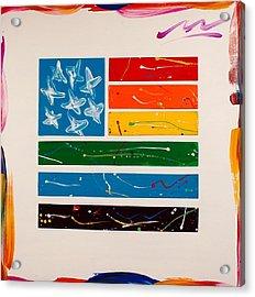 Rainbow Flag Acrylic Print by Mac Worthington
