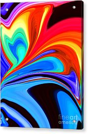 Rainbow Flare Acrylic Print by Chris Butler
