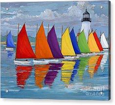Rainbow Fleet Acrylic Print by Paul Brent