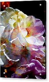 Rainbow Floral Acrylic Print
