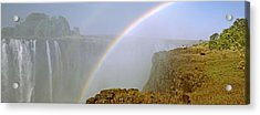 Rainbow Form In The Spray Created Acrylic Print by Panoramic Images
