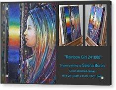 Rainbow Girl 241008 Acrylic Print