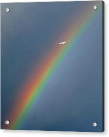 Rainbow Gods Promise. Acrylic Print by Joyce Woodhouse