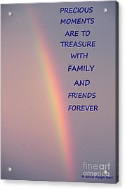 Rainbow Happiness Acrylic Print by Joseph Baril