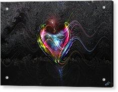 Rainbow Heart Acrylic Print by Linda Sannuti
