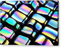 Rainbow Hematite Acrylic Print by Jim Hughes