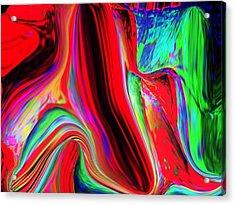 Rainbow Acrylic Print by HollyWood Creation By linda zanini