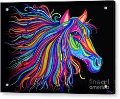 Rainbow Horse Too Acrylic Print
