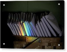 Rainbow In A Basket Acrylic Print