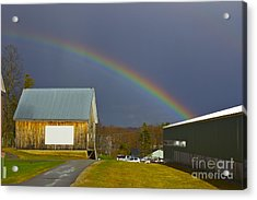 Rainbow In Maine Acrylic Print