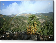 Rainbow In Mountains Acrylic Print
