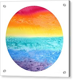 Acrylic Print featuring the painting Rainbow Landscape  by Susan  Dimitrakopoulos