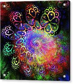 Rainbow Leopard Acrylic Print by Anastasiya Malakhova