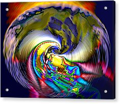 Rainbow Liberty V.5 Acrylic Print by Rebecca Phillips