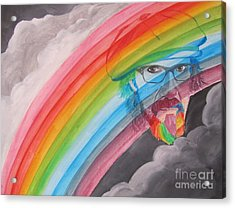 Rainbow Man Mark Hudson Acrylic Print