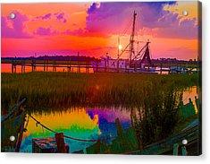 Rainbow Marsh Acrylic Print