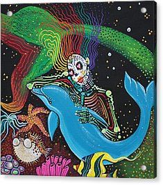 Rainbow Mermaid Acrylic Print