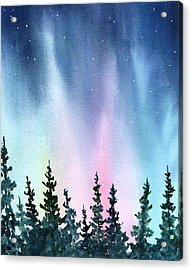 Rainbow Night Acrylic Print