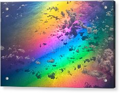 Rainbow Ocean Acrylic Print by Eti Reid