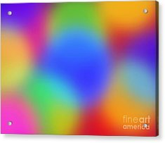 Rainbow Of Colors Acrylic Print by Gayle Price Thomas