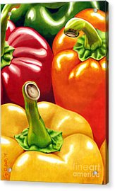 Rainbow Of Peppers Acrylic Print