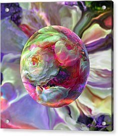 Rainbow Of Roses Acrylic Print by Robin Moline