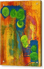 Acrylic Print featuring the painting Rainbow Of The Spirit by Lesley Fletcher
