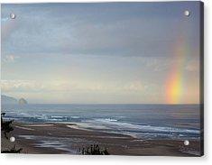 Rainbow On My Beautiful Beach Acrylic Print