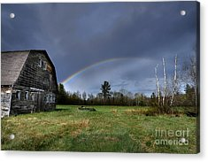 Rainbow On The Farm Acrylic Print by Alana Ranney