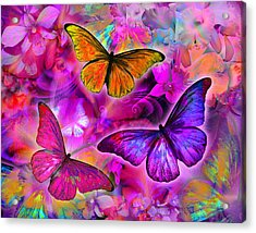 Rainbow Orchid Morpheus Acrylic Print by Alixandra Mullins