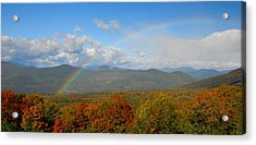 Rainbow Over Bartlett Nh Acrylic Print