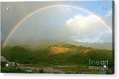 Rainbow Over Boquete Acrylic Print by Heiko Koehrer-Wagner