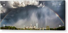 Rainbow Over Charlotte Acrylic Print by Chris Austin