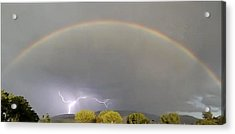 Rainbow Over Lightening Acrylic Print