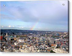 Rainbow Over London Acrylic Print