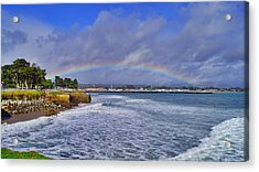 Rainbow Over Santa Cruz Acrylic Print