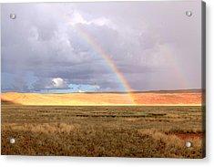 Rainbow Over Sossulvei Acrylic Print