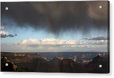 Rainbow Over The Grand Canyon Acrylic Print