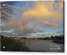 Rainbow Over Wickford Acrylic Print