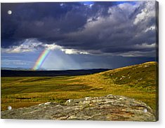 Rainbow Over Yorkshire Moors - Tann Hill Acrylic Print