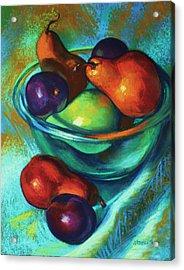 Rainbow Pears Acrylic Print