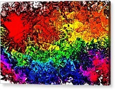 Rainbow Pieces Acrylic Print