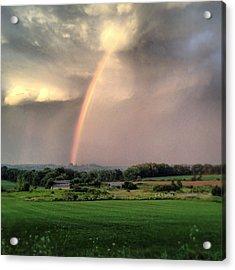 Rainbow Poured Down Acrylic Print