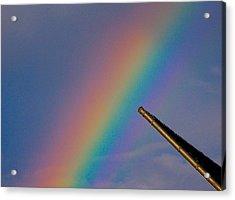 Rainbow Acrylic Print by Rita Mueller